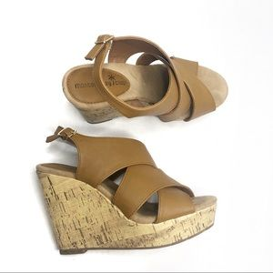 Montego Bay Club Cork Wedge Platform Sandal